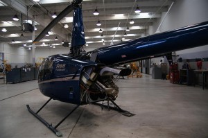 R66 helicopter prepared for test flight