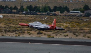 T-33 Shooting Star takes off for the race