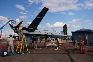 MQ-9 Reaper being assembled