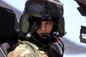 Apache monocle and helmet