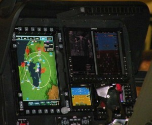 MD540F Elbit Systems Garmin cockpit
