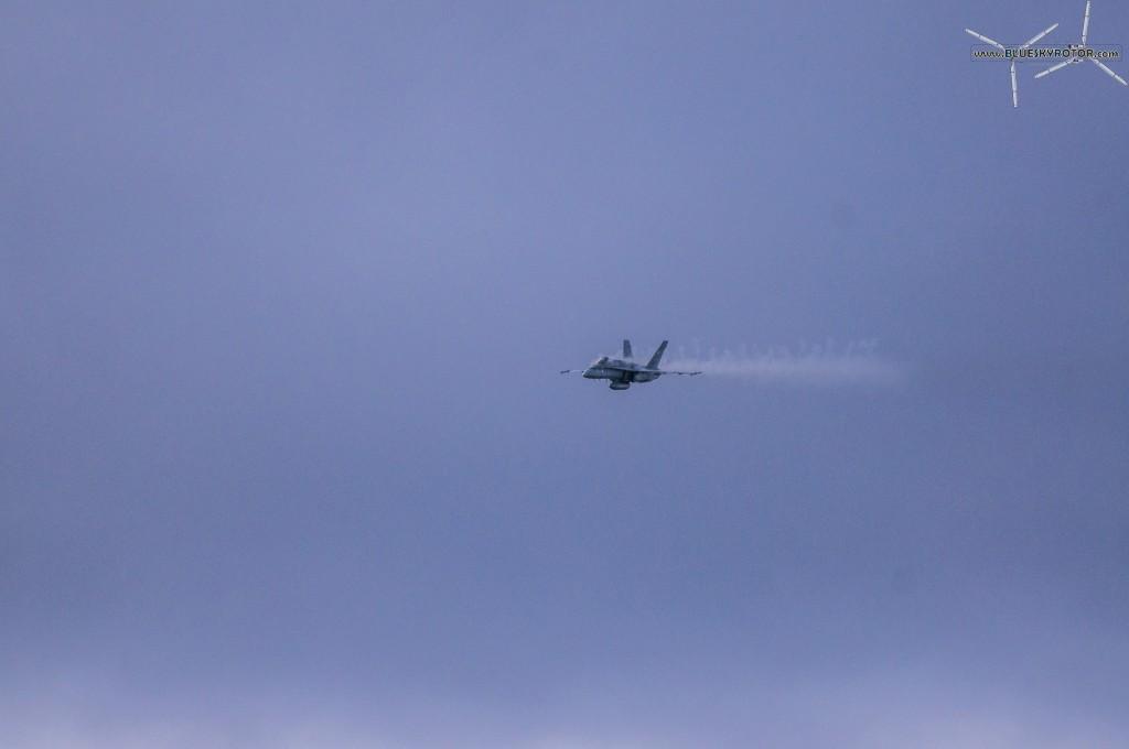 F/A-18C firing 20mm M61 Vulcan Gatling cannon