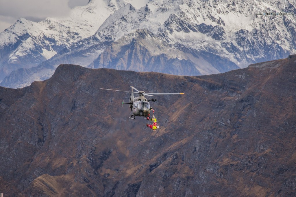 EC635 on rescue demo at Axalp Fliegerschiessen 2012