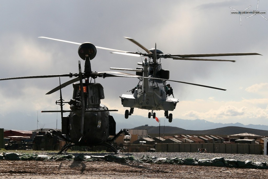 EC725 Caracal and OH-58D Kiowa