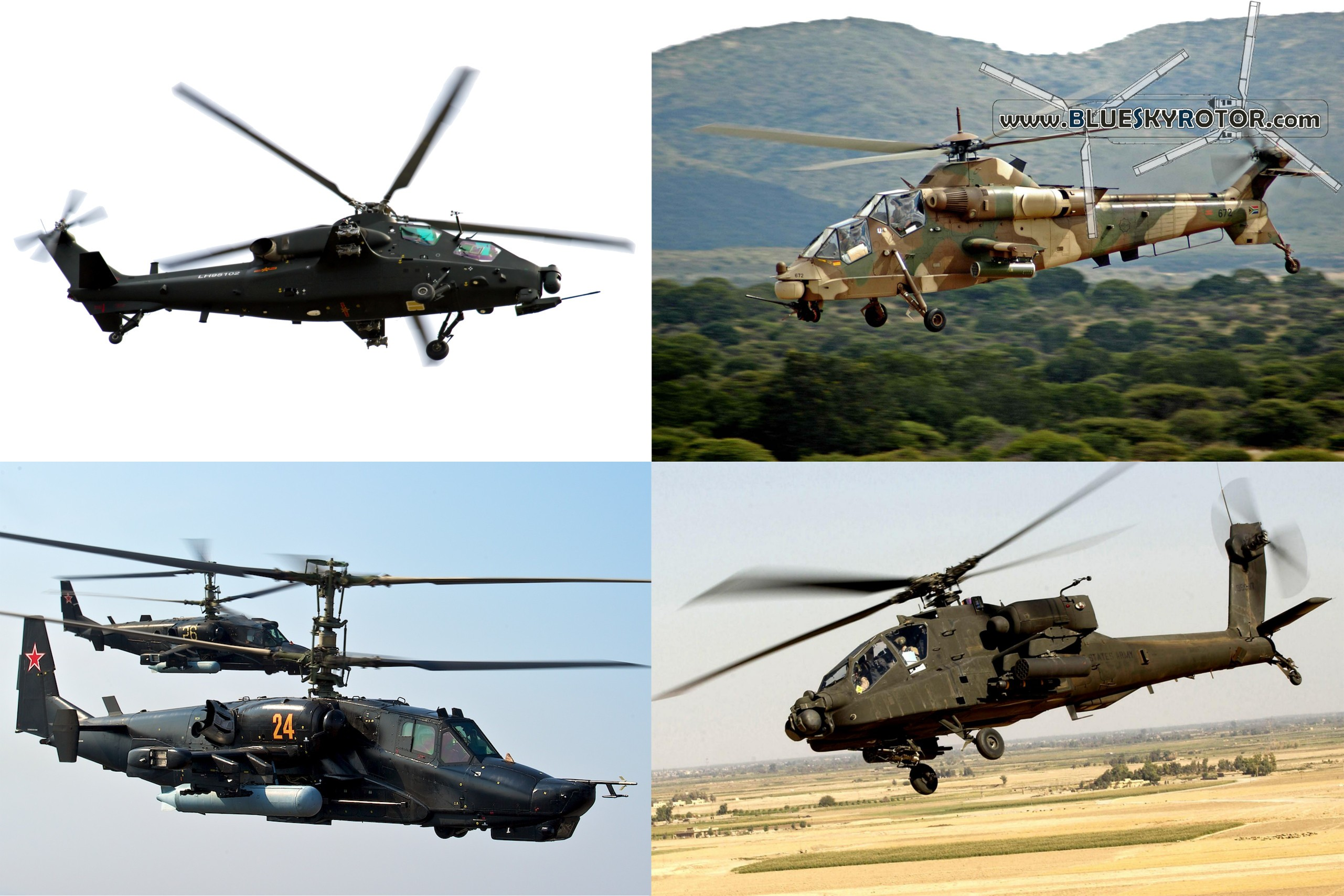 The best modern combat helicopters