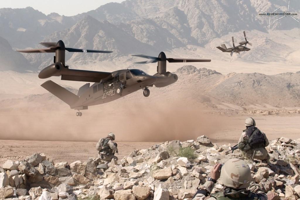 Bell V-280 Valor FVL Landing Scene