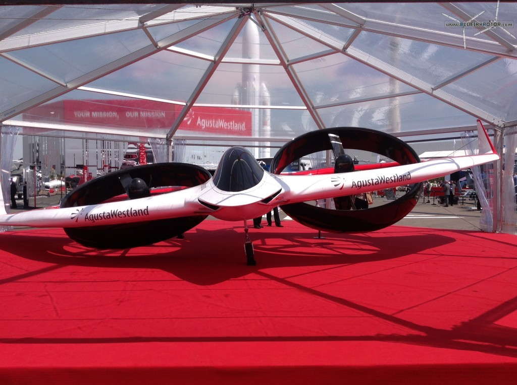 Front view of the AgustaWestland's Project Zero under dome at Paris Air Show 2013