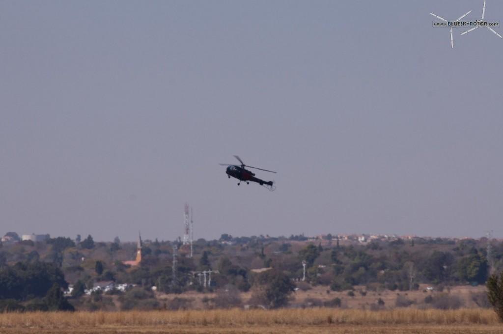 Alouette III in approach