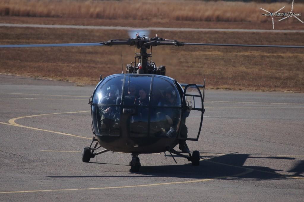 Alouette III on ground