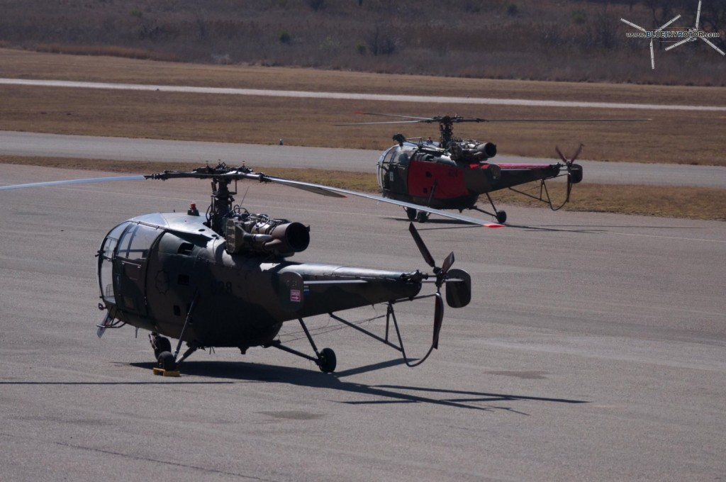 Alouette III parking and taxi