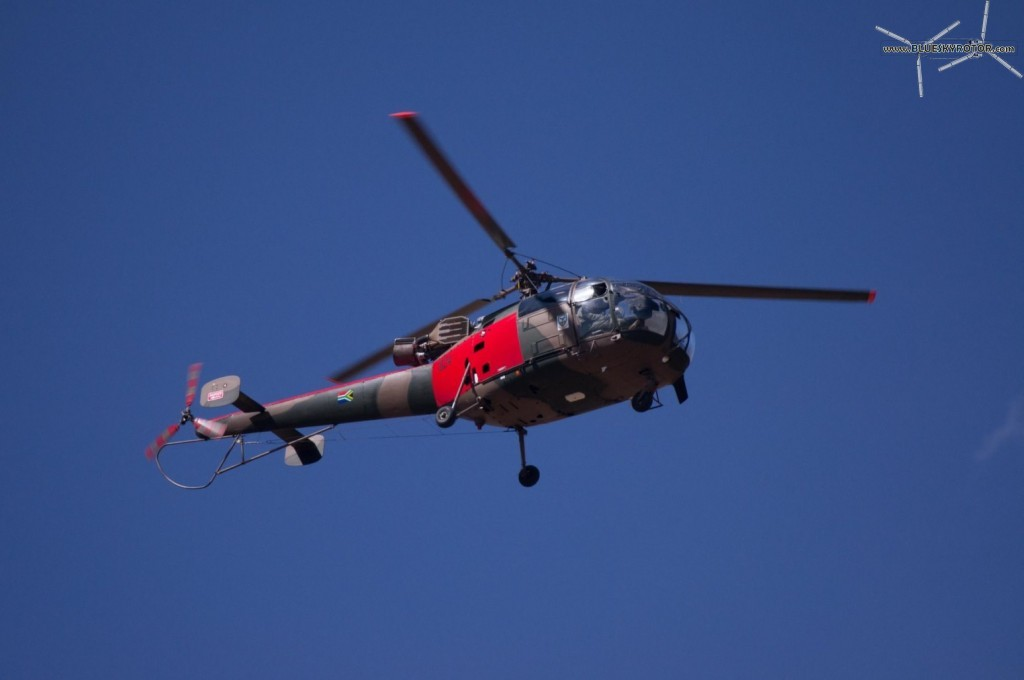 Red Alouette III approaching