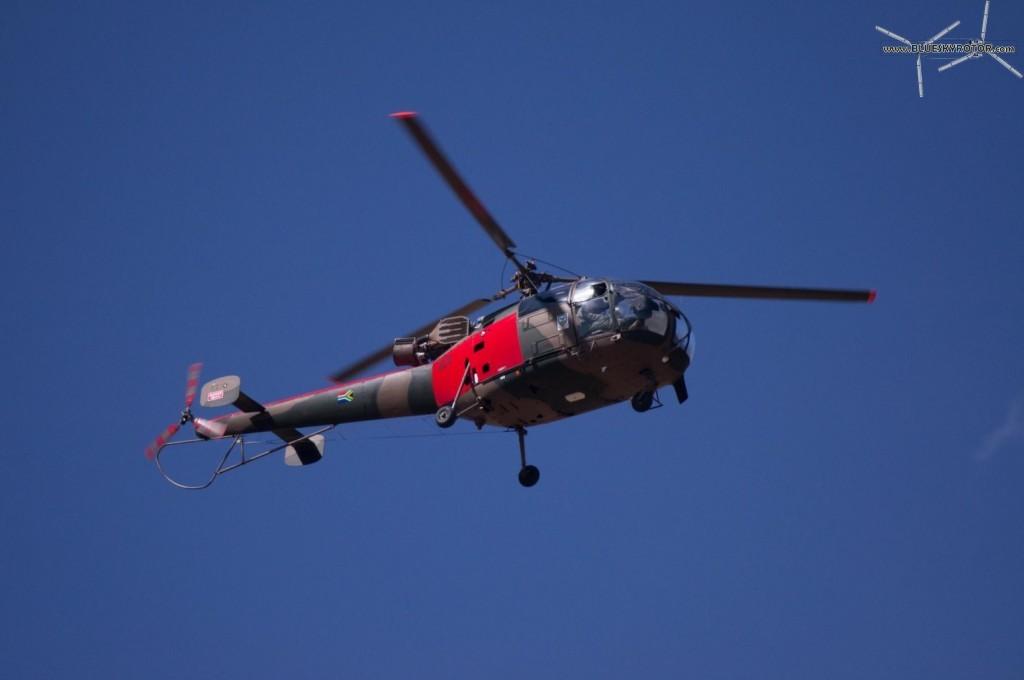 Red Alouette III approaching