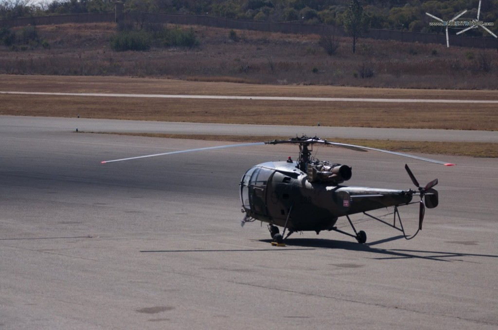 Alouette III parked on the shadow