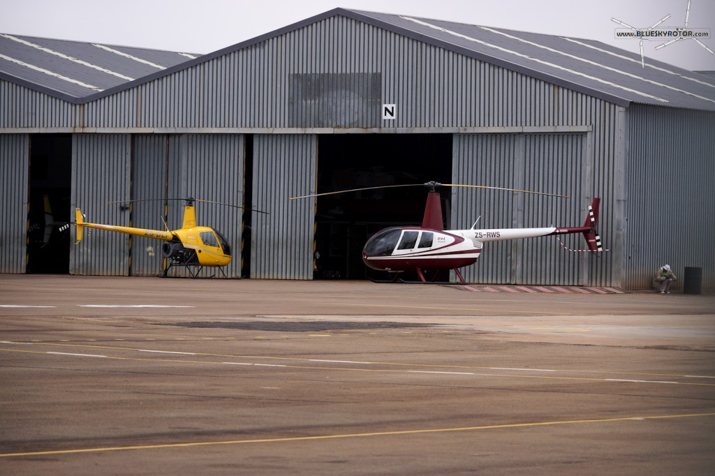 ZS-RVS, R44 Raven II, and ZS-DLF, R22 Beta II