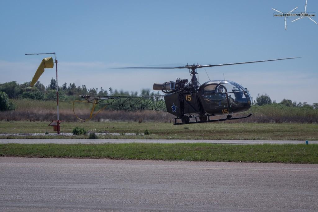 Alouette II hovering
