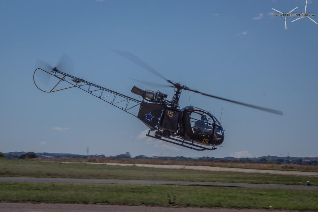 Alouette II taking off