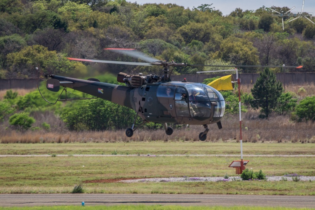 Alouette III taking off
