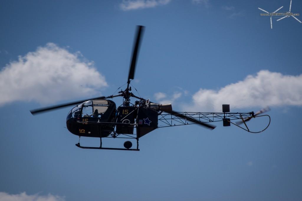 Alouette II on training flight