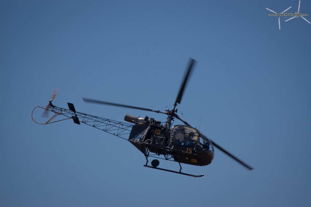 Alouette II on training flight