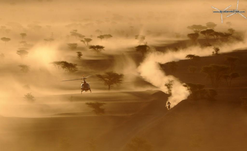 AS350 B3 dazzling in the desert sun
