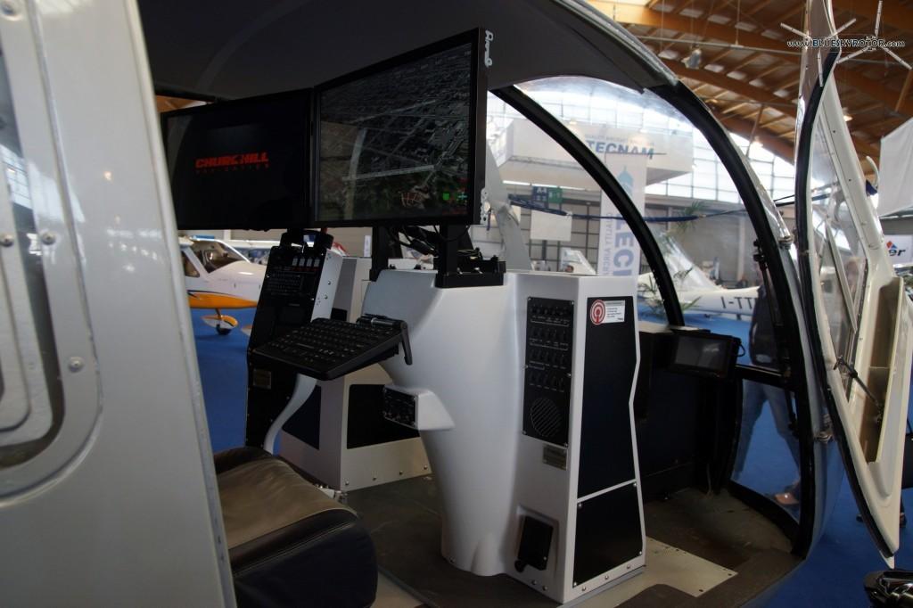 Airborne Technologies Bo105 Mockup, operator console