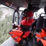 EC145 T2 ADAC rescue helicopters in flight, in the cabin