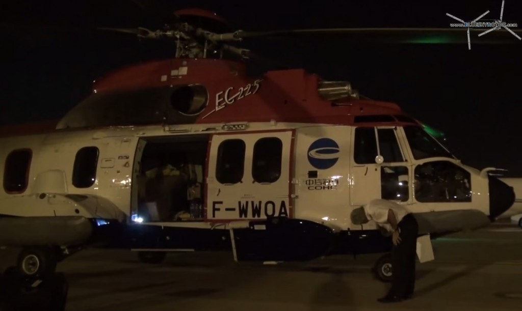 After-flight inspection by night, EC225
