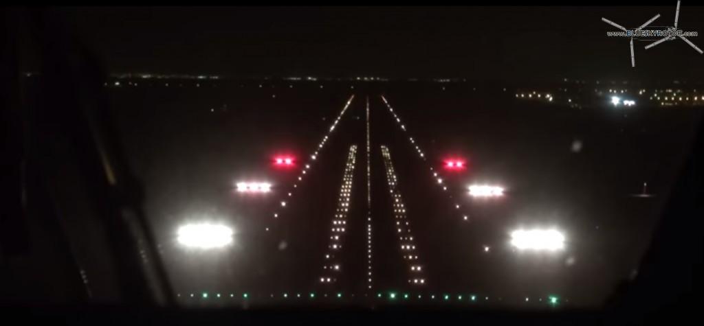 Landing in Riyadh, EC225 by night