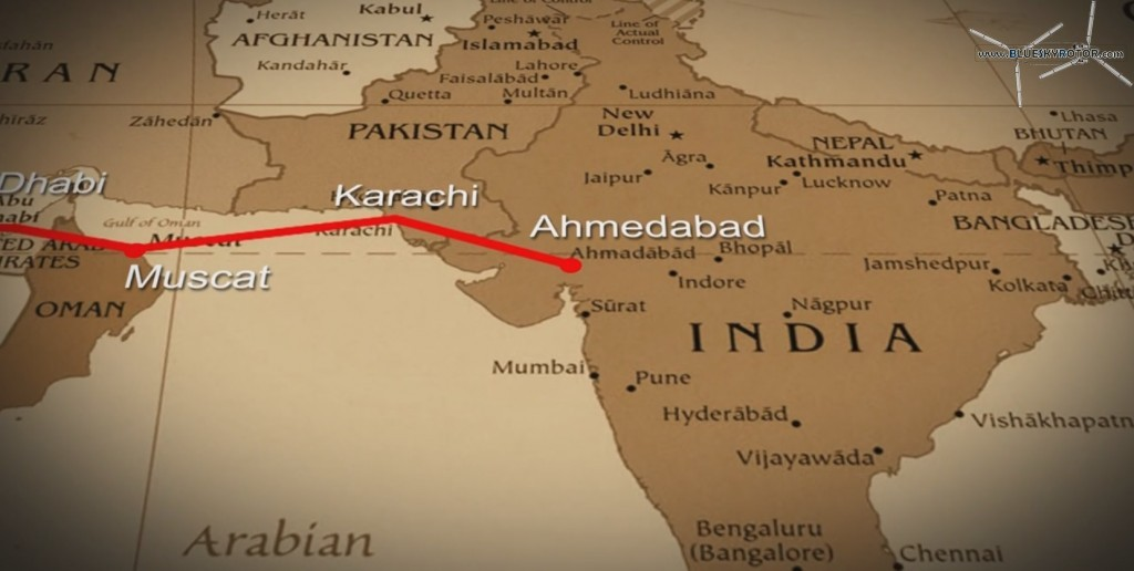 Muscat to Ahmedabad