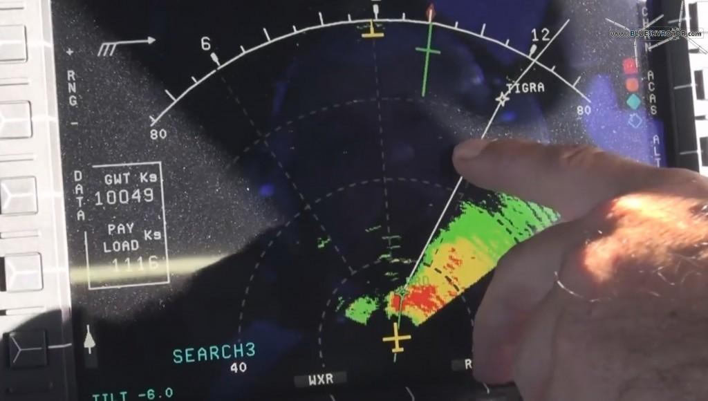 radar in search mode, EC225