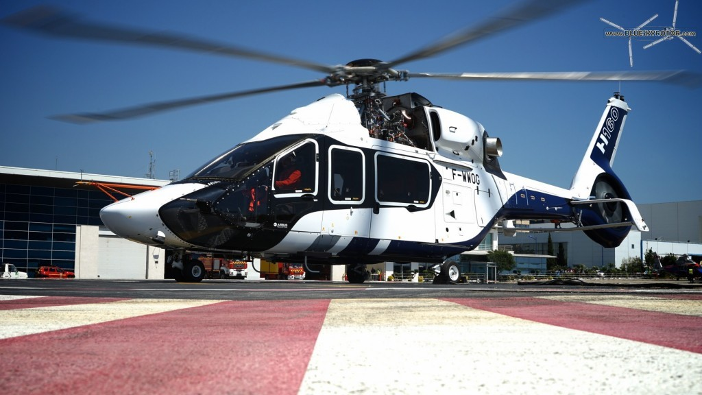 H160 PT1 on parking, copyright Airbus Helicopters