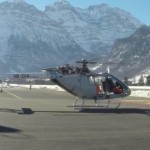 Marenco SwissHelicopter SKYe SH09 in the swiss Alps
