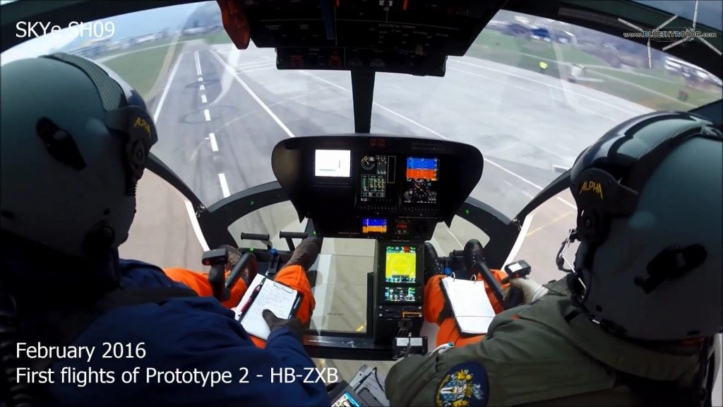HB-ZXB Marenco Swisshelicopter 2nd prototype SKYe SH09, cockpit view