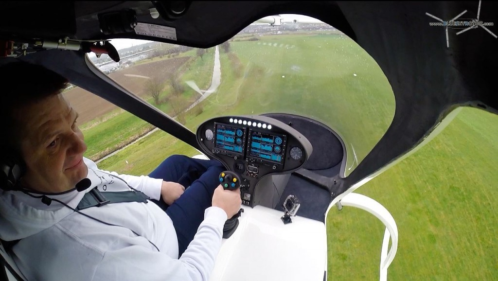 VC200 Volocopter first manned flight, cockpit view