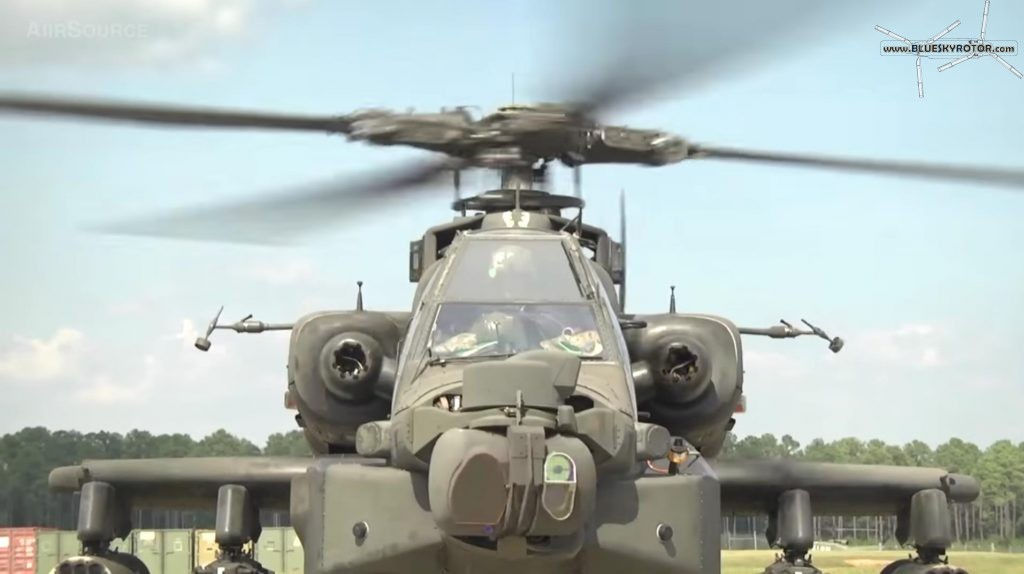 Apache AH-64D ready take-off