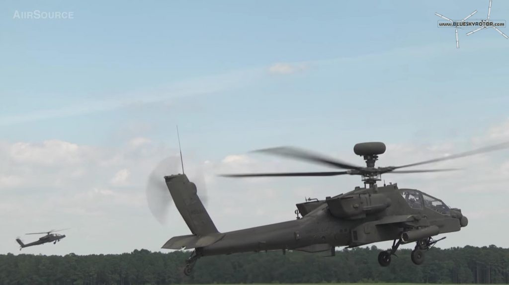 Apache AH-64D take-off