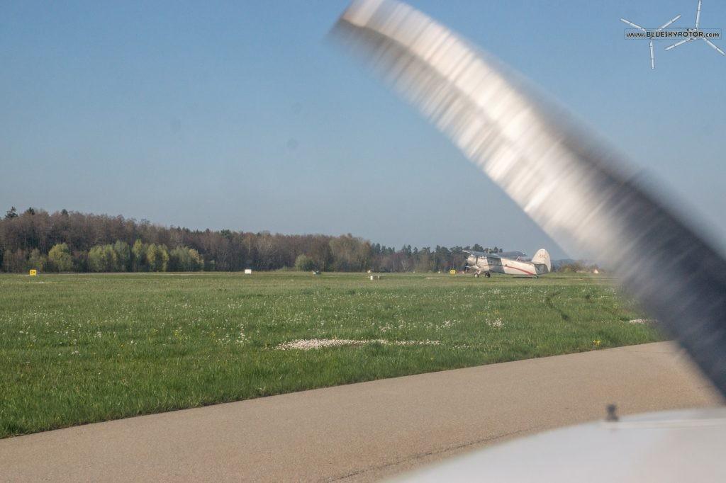 Antonov 2 leaving EDNY Friedrichshafen airport