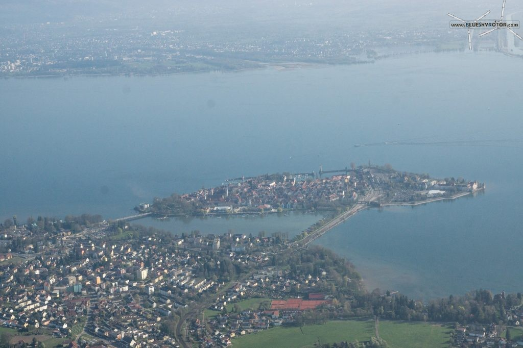Flying over Bodensee, Lindau