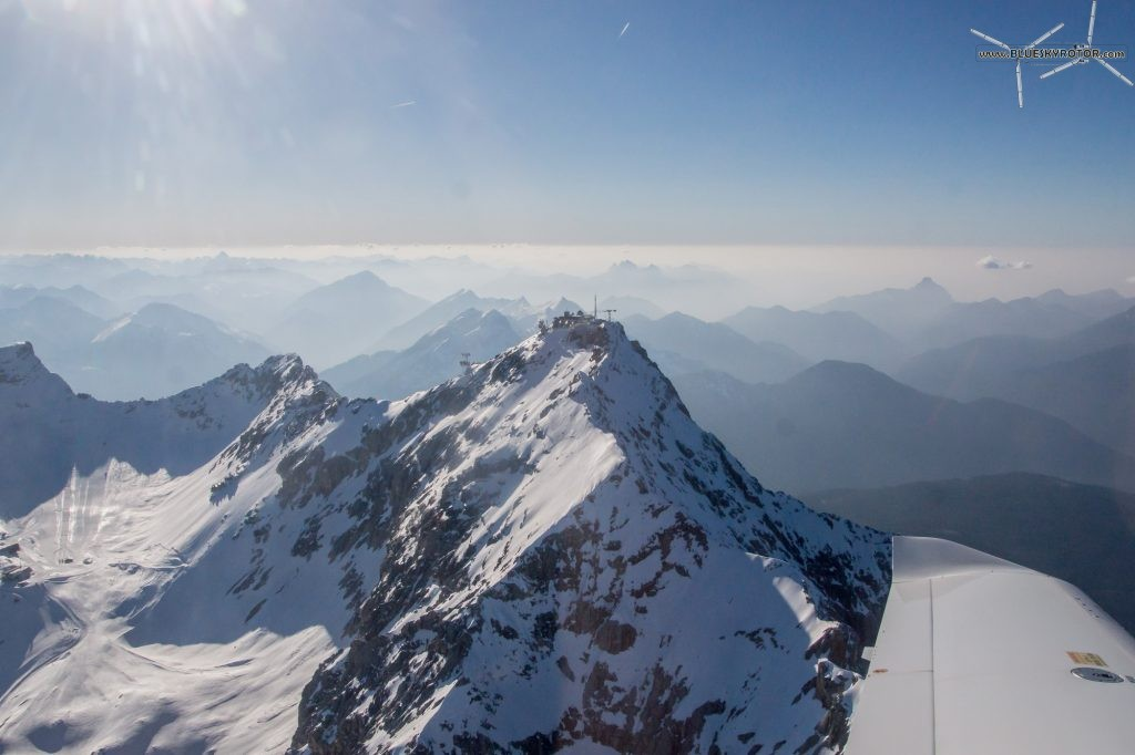 Flying over the Zugspitze