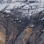 F-5 Tiger at Axalp 2012, live firing display