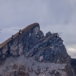 Eight Cougar AS532 UL at Axalp 2012 during live demo